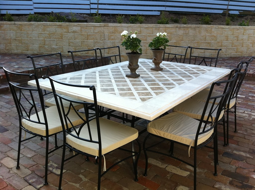 Dining table marble dining table perth for Stone top dining tables perth
