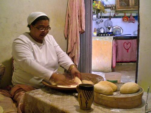 Homemade bread, a Moroccan staple