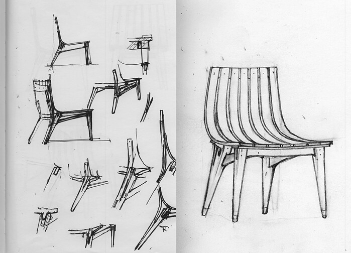 john's chair drawings