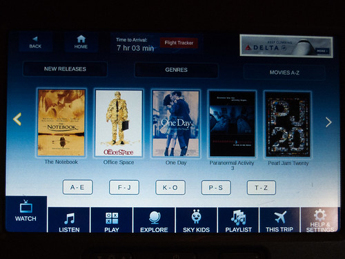 Delta BusinessElite in-flight entertainment
