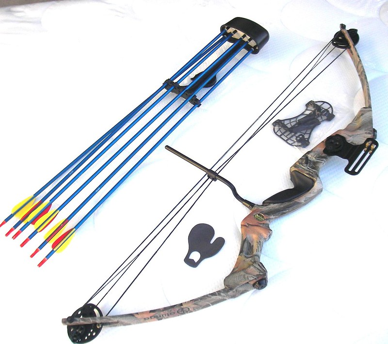 Twin-Cam-Camo-75lbs-Compound-Bow-4-Archery-Hunting-Practice-Complete-Package-NEW