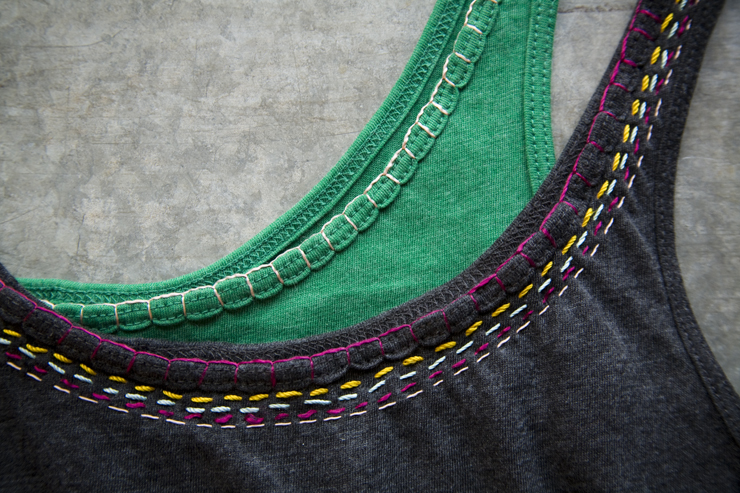 DIY embroidered t-shirt