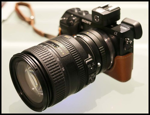 Sony NEX-7 Nikon 24-85mm FX zoom lens