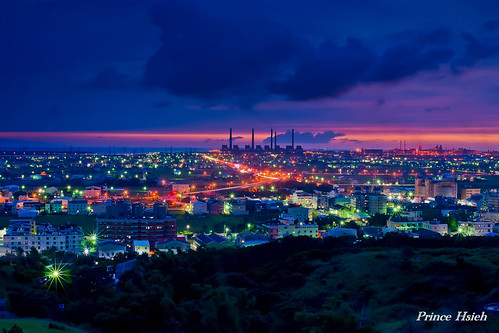 taiwan nightview 夜景 台中市 taichungcity 龍井 sony50mmf14 lungjing 國道3號 highwayno3 sonya850