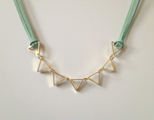 Cut Metal Necklace 08
