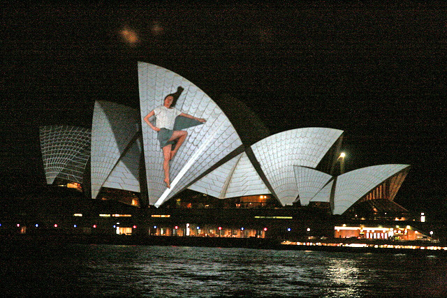 VIVID Sydney features huge 3D mapped projections onto the Sydney Opera House