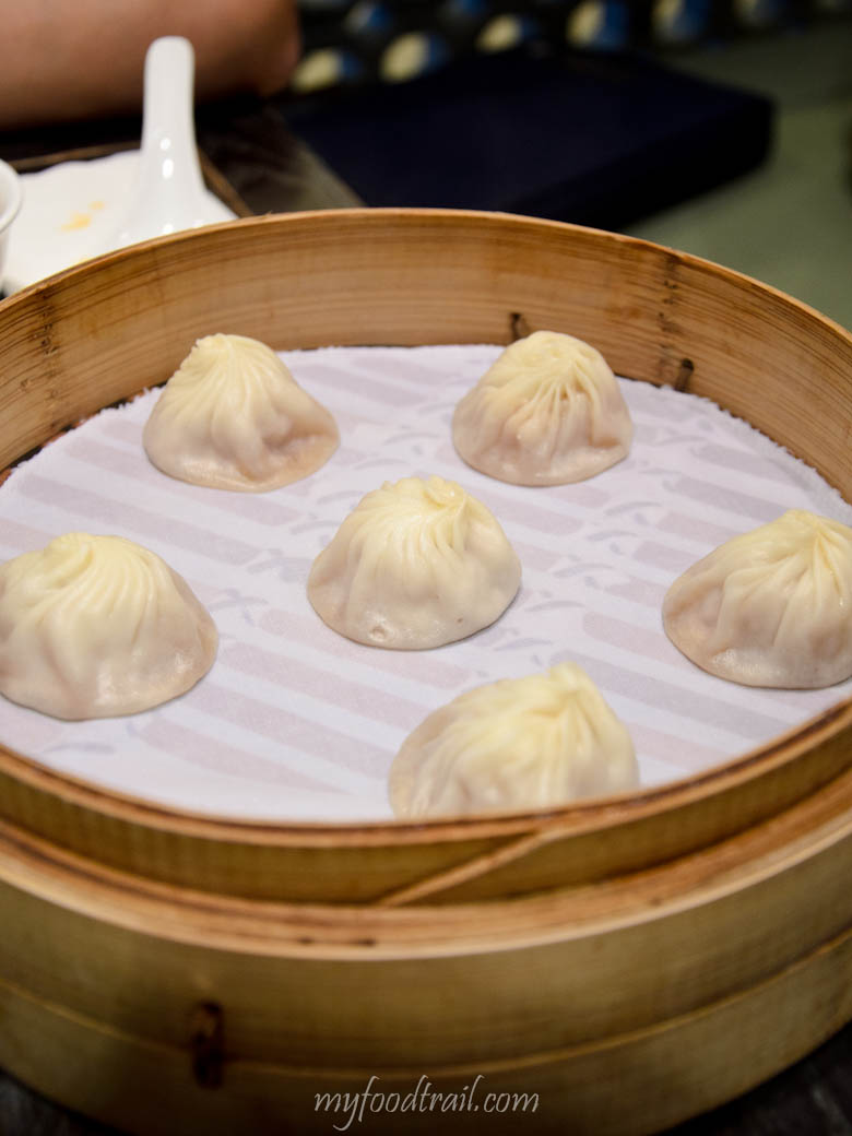 Din Tai Fung, Singapore - Steamed pork dumplings (xiao long bao)