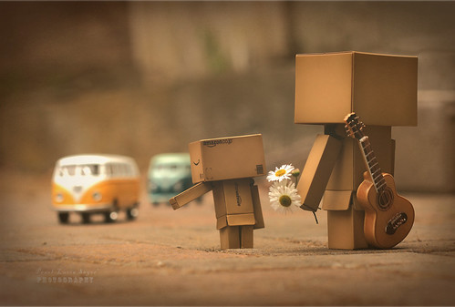Danbo's lookin' for fun & feelin' groovy!
