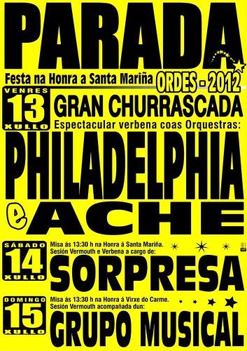 Ordes 2012 - Festas patronais de Parada - cartel