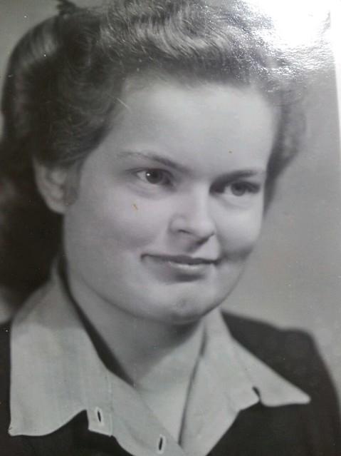 1946 in Diepholz, UNRRA DP camp worker Liesje van t Hooft