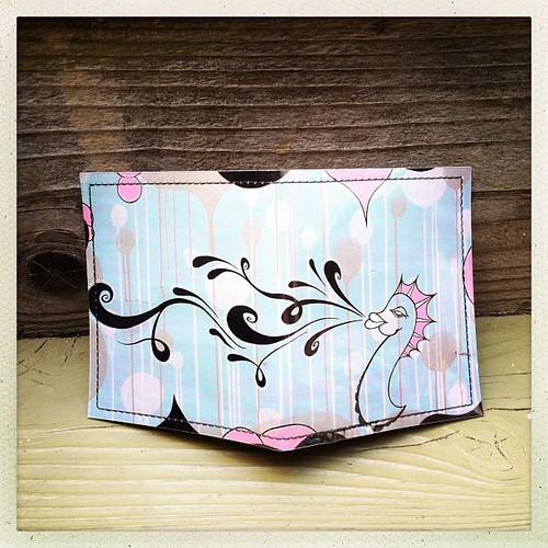 """sassy seahorse"" - new wallet!"