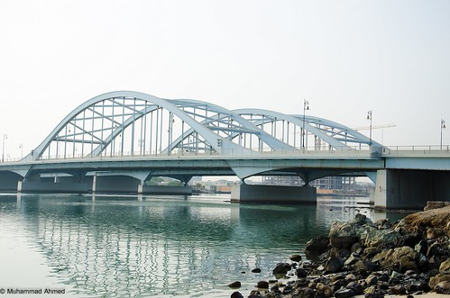 ocean travel bridge sea architecture sunrise lagoon abudhabi hdr ahmzee nikond7000 almaqta almaqtabridge