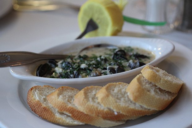 Baked French Escargots  at Michael John's Restaurant, Bradenton FL