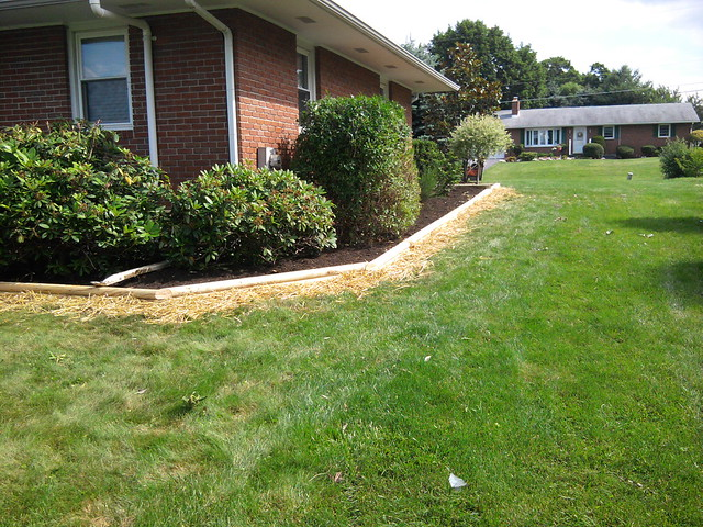 Landscaping Ties Nanaimo : Landscape tie edging and mulch westminster md flickr photo