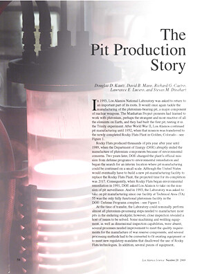The Pit Production Story