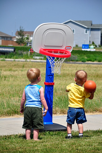 Boys Playing Ball 1