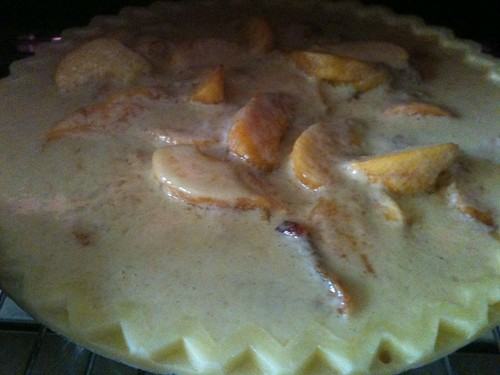Peach Yogurt Custard Pie 2