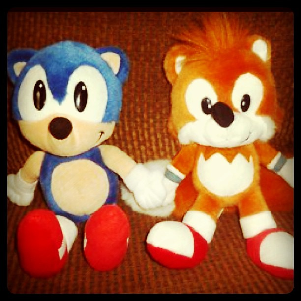 Sonic the Hedgehog &Tail 1994 Plushies