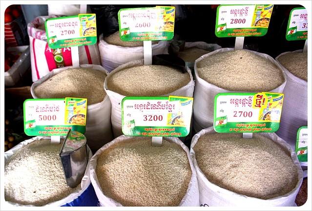 phnom penh central market rice