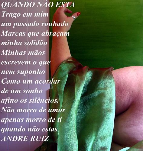 QUANDO NÃO ESTAS by amigos do poeta