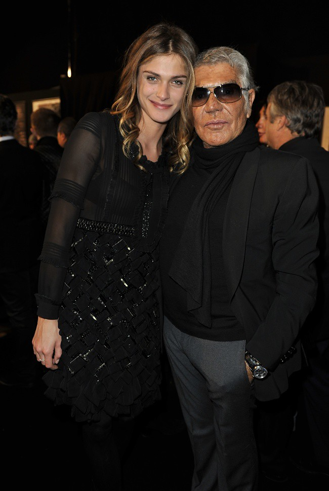 9 Roberto Cavalli and Elisa Sednaoui in Roberto Cavalli @ Roberto Cavalli FW1213 fashion show 27-02-2012 Milan