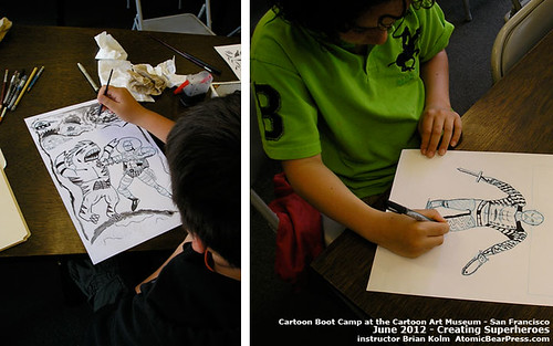 Cartoon Boot Camp 2012: Superhero Creation at the Cartoon Art Museum