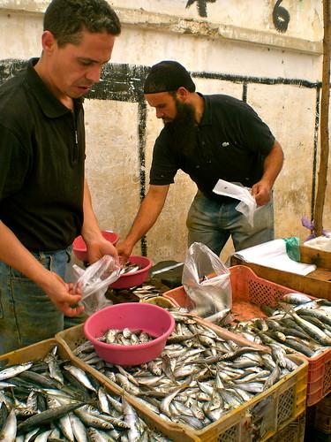 Ain Leuh's Sunday fish vendors