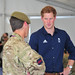 Princes William and Harry meet soldiers at Olympics Rowing