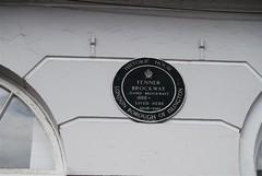 Photo of Fenner Brockway green plaque