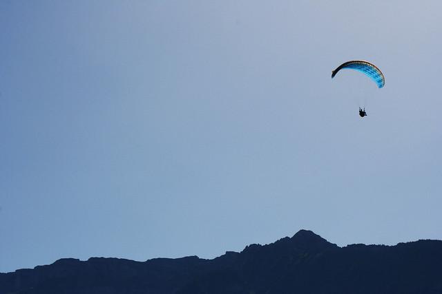 Paraglider over Interlaken