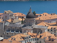 Dubrovnik Cathedral, seen from the Minceta Tower