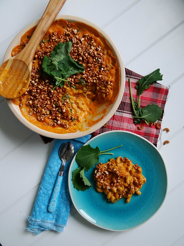 sweet potato kale mac n' cheeze