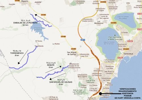Mapa Rallye Go Karts Orihuela Costa
