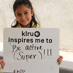 KLRU inspires me to... be active (super)!!!