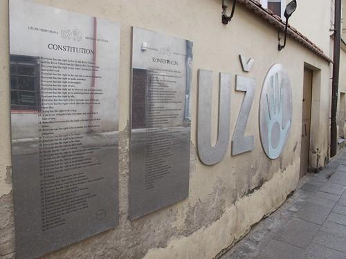Constitution, Vilnius, Užupio Res Publika, Paupio gatvė