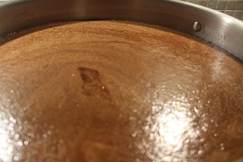 The Stout Creates a Crema as it Boils