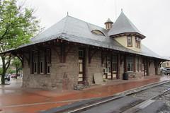 Old Pennsylvania Railroad passenger station and tracks