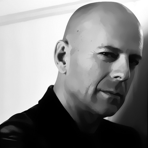 Bruce Willis Digital Art Portrait by David Alexander Elder