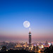 Super Moon with Taipei 101 by 范植然 KentFan