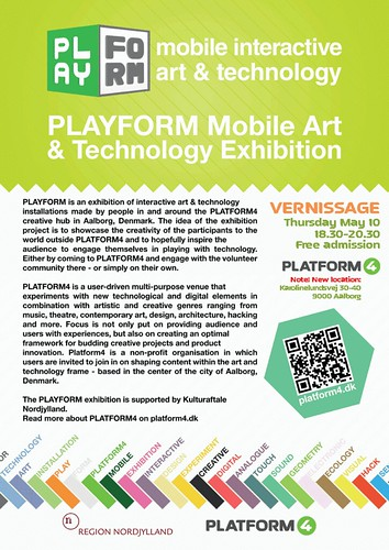 PlayForm vernissage flyer