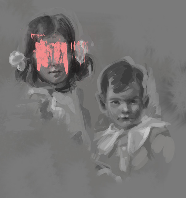 Siblings - painting study