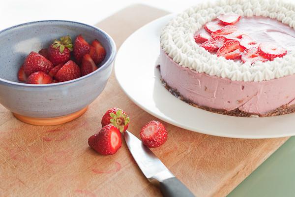 Raw vegan strawberry cheesecake w/ coconut whipped cream | Flickr ...