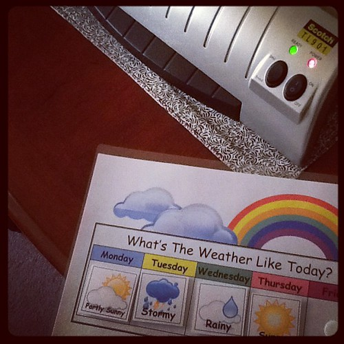 I purchased a laminator for schooling. It's so fun. I want to laminate everything :-)