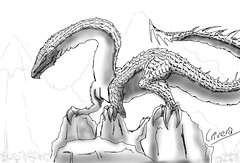 line art, sketch, figure drawing, monochrome photography, drawing, dragon, cartoon, monochrome, illustration, black-and-white,