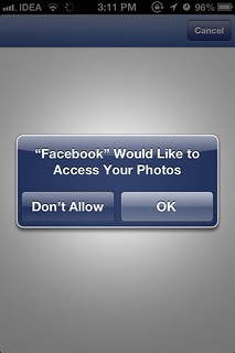 Photos privacy iOS 6