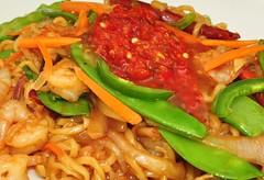 Mmm... spicy shrimp noodles