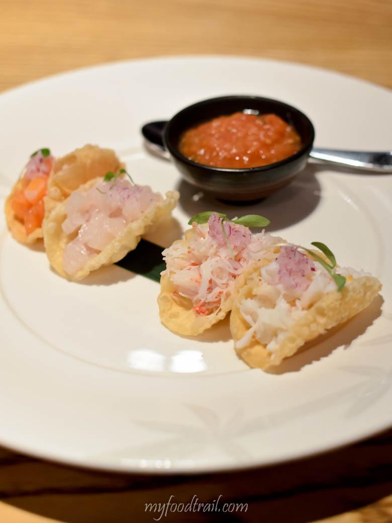 Nobu - Sashimi tacos $23.50