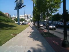Atlanta: Empty Sidewalk at Rush Hour