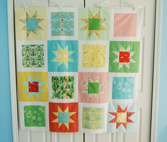 hopscotch quilt top.