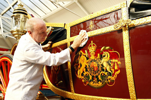 Preparations in the Royal Mews